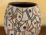 Vintage Abstract Matte Fish Motif Vase