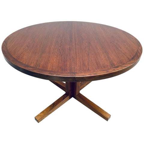 1960s Danish Heltborg Mobler Rosewood Dining Table