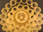 1960s Doria Two Tier Tubular Crystal Glass Chandelier