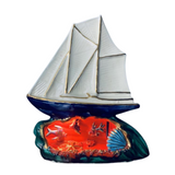 1960s French Vallauris Ceramic Yacht Lamp