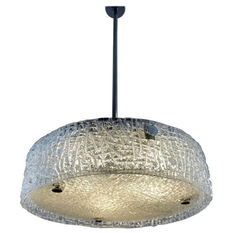 1960s Kaiser Textured Glass Ceiling Light