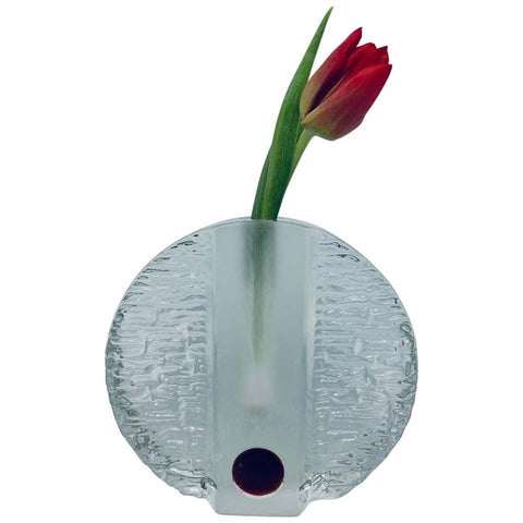 1960s Walther Glas 'Solifleur' Single Stem Round Vase