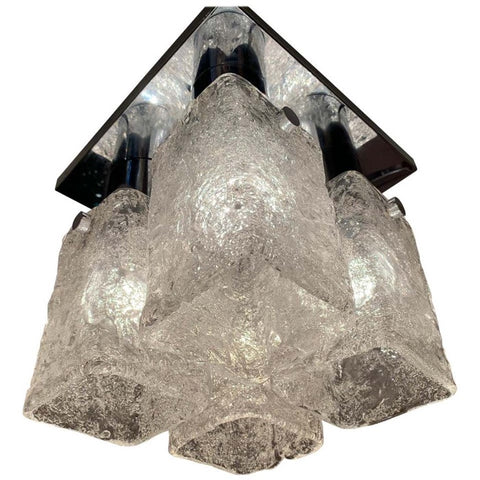 1960s J.T Kalmar Flush Mount Ceiling Light