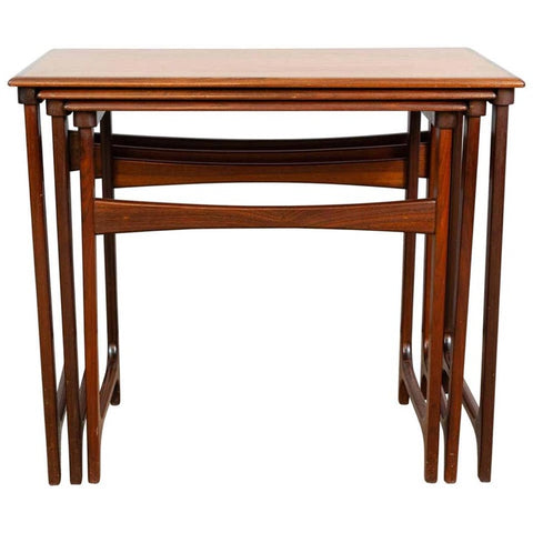 1960s Danish B.C. Mobler Teak Nest of Tables