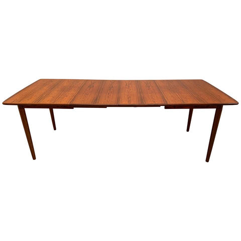 1960s Gustav Bahus Extendable Rosewood Dining Table
