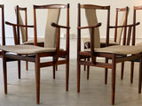 1960s Set of 6 Rosewood Henning Sorensen Dining Chairs
