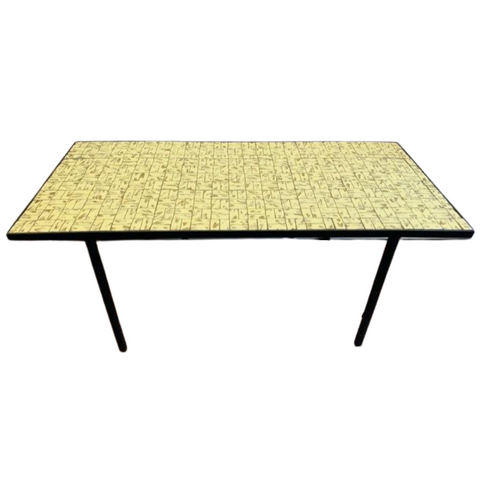 1960s Yellow and Gold Tiled Coffee Table