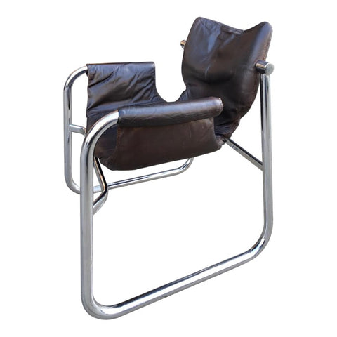 1960s Brazilian Maurice Burke 'Alpha' Sling Chair for Pozza