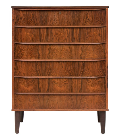1960s Danish Rosewood Chest of Six Drawers