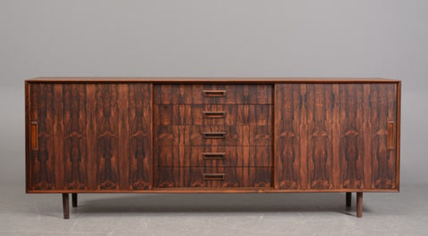 1960s Danish Rosewood Five Drawer Sideboard
