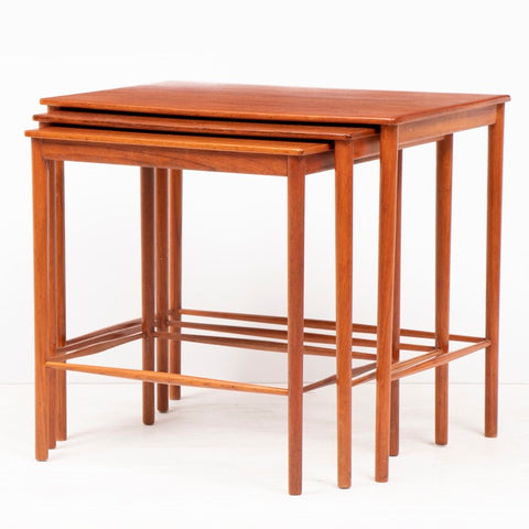 1960s Danish Teak Kai Winding Nest of 3 Tables