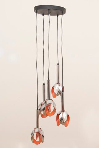 1960s Dutch Cascading Raak Hanging Light