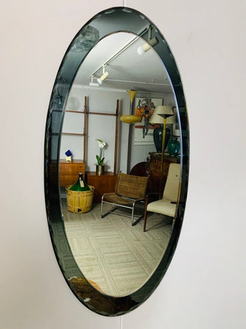 1960s Italian Scalloped Bevelled Edge Mirror