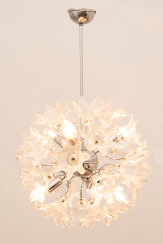 1960s Italian Murano Glass Chandelier by Paolo Venini