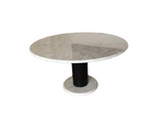 1965 Italian Carrara Marble Pedestal Dining Table Lotorosso by Ettore Sottsass for Poltronova
