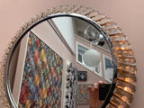 1970s Illuminated German 'Palwa' Chrome Wall Mirror