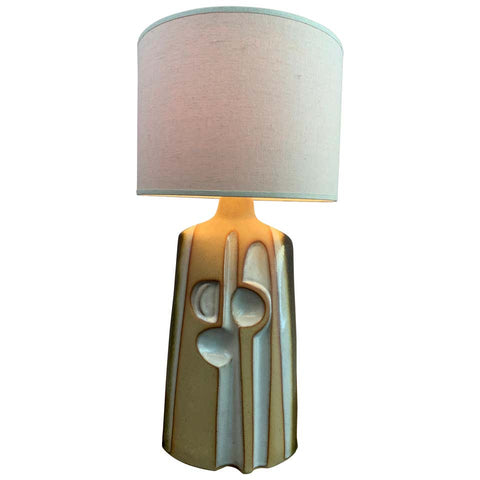 1970s Large Studio Pottery Abstract Table Lamp