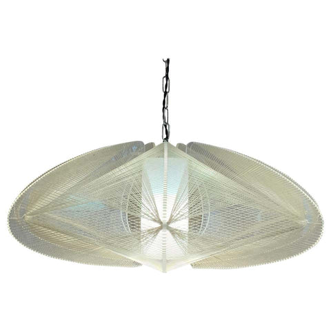 1970s Nylon and Perspex Ceiling Lamp by Paul Secon