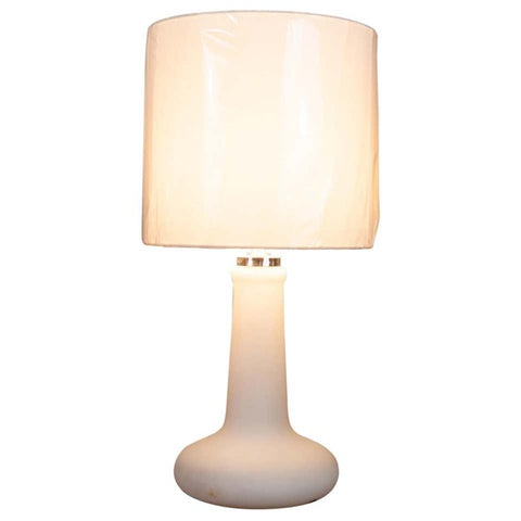 1970s Peill & Putzler Opaline Glass Table Lamp