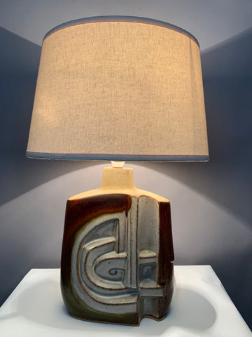 1970s Small Tremaen Pottery Zennor Table Lamp