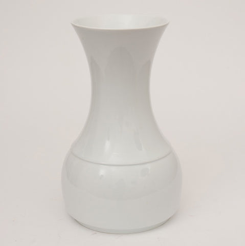 1970s White Glazed Ceramic Vase by Thomas of Germany