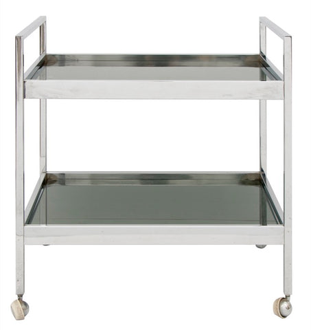 1970s Italian Chrome Bar Drinks Trolley