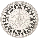 1980s Timney Fowler Black & White Compass Plate