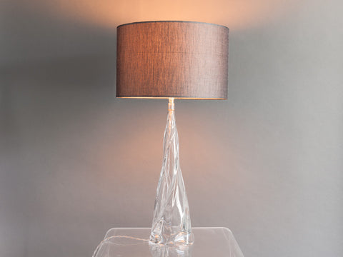 Crystal Swirl form Table Lamp Base