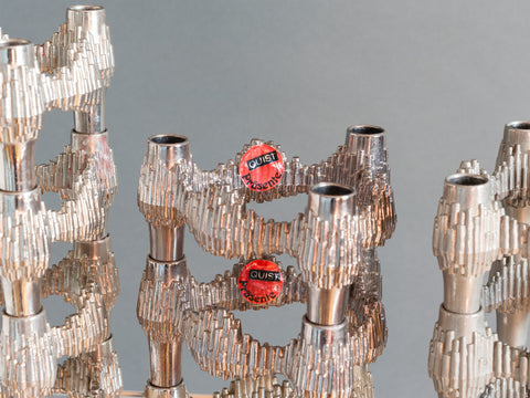 1960s Brutalist Candle Holders by Quist West Germany