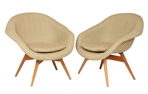Pair of 1960s Czech Shell Chairs By Frantisek Jirak