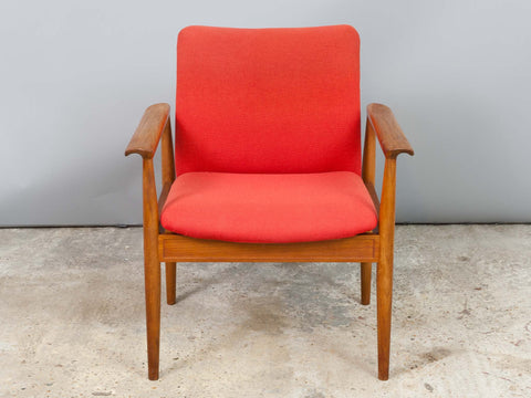 1960s Danish Teak Diplomat Chair by Finn Juhl for France & Sons