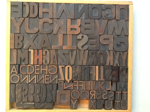 VINTAGE PRINTING BLOCKS - Letters and Numbers