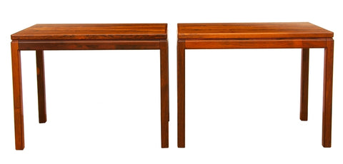 Pair of 1960s Swedish Rosewood Side Tables