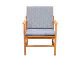 1960's Blonde Oak Borge Mogensen Danish Armchair for Frederica Stolefabrik