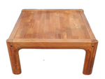 1960's Danish Teak Inlaid Square Coffee Table