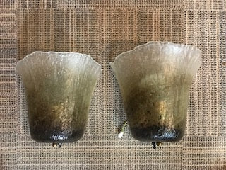 Pair of 1970s German Peill & Putzler Calyx Wall Sconces