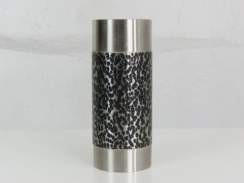 1960's German BMF Metal Cylinder Vase