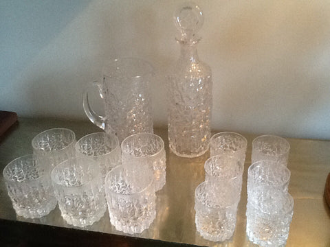 Whitefriars Glacier Crystal Set