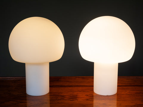 Pair of 1970's Opaque Table Lamps by Wofi Leuchten GmbH