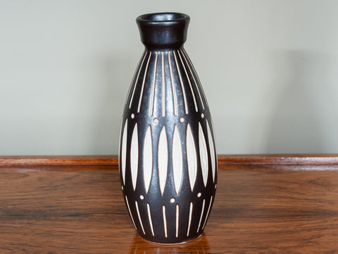 1970's ANTON PIESCHE SGRAFFITO ABSTRACT GERMAN POTTERY CONICAL VASE