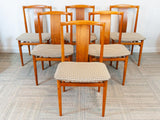 Set of 6 1960s Danish Teak Dining Chairs by Henning Sorensen for Danex