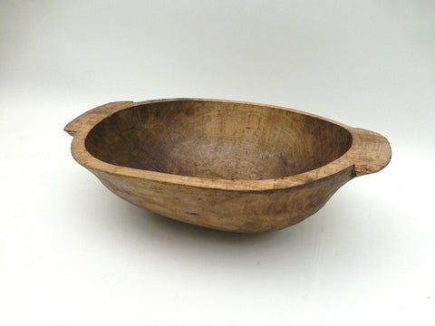 Antique Wooden Handmade Dough Bowl