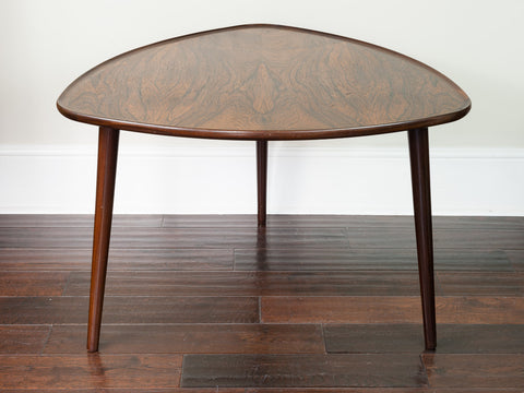 1960s Danish Rosewood Triangular Side Table