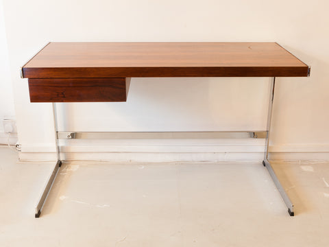 1970s Merrow Associates Rosewood and Chrome Desk