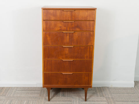 1960's Tall Teak Austinsuite Chest Of Drawers