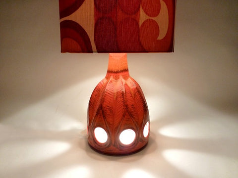 Retro Fat Lava Lamp with Shade