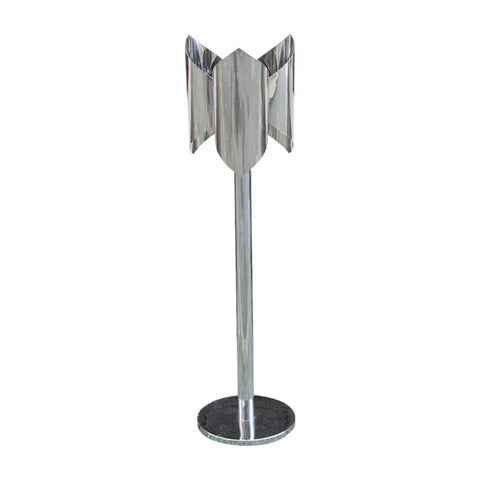 1970s Italian Chrome Flower Floor Lamp