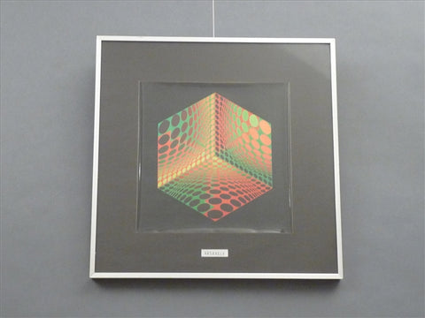 Op Art - Spotted Cube Vasarely Framed Print