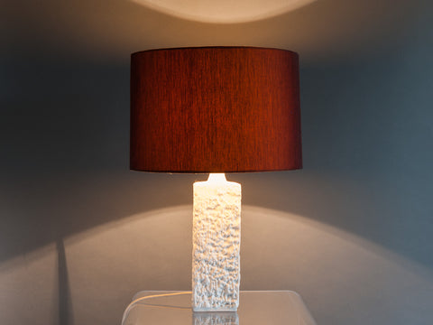 1960S TEXTURED BISQUE LAMP BASE