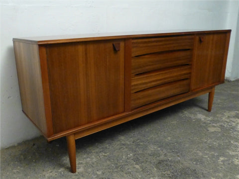 Morris of Glasgow Walnut and Teak Sideboard